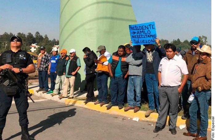 Transportistas piden trabajo en una manifestación de noviembre de 2019 en la capital de Mexico.