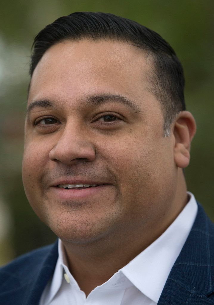 Former state representative Jason Villalba after he announced he will run for Dallas mayor at his grandmother's house in Dallas' Oak Cliff neighborhood on Tuesday, January 15, 2019.