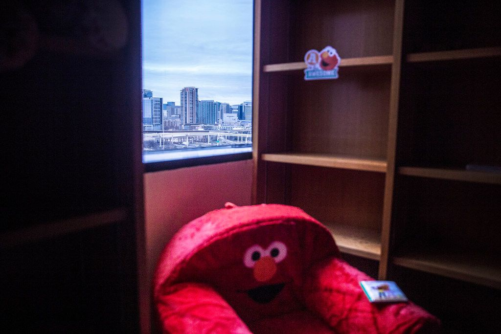 """A """"Sesame Street"""" themed play room in the Dallas County Public Defender's office at the Frank Crowley courthouse in Dallas on Jan. 30, 2019. Kids can play in the former Law Library while clients talk about their cases with their lawyers. (Carly Geraci/Special Contributor)"""