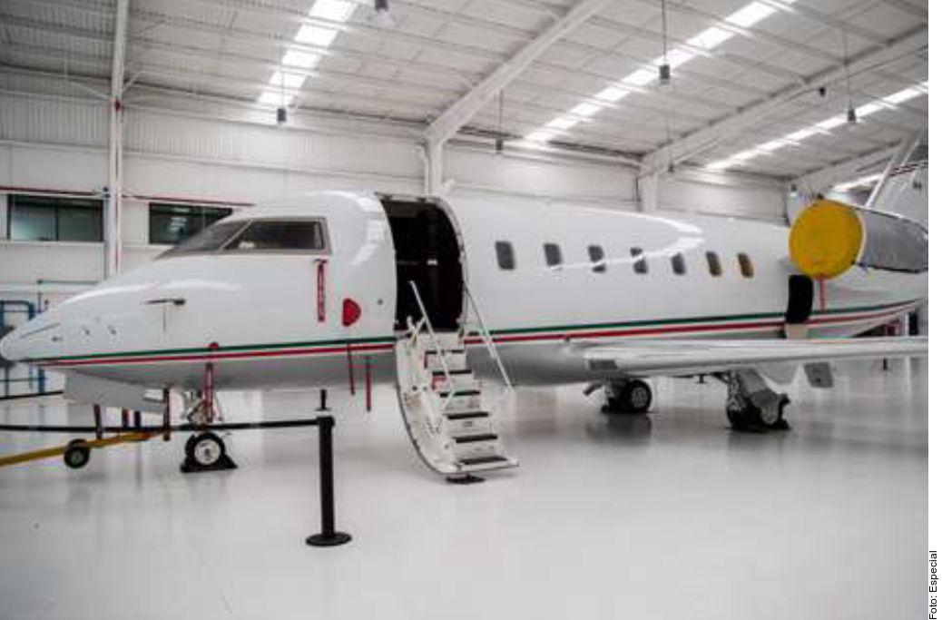 Este es el avión que fue adquirido para los viajes de Murillo Karam.