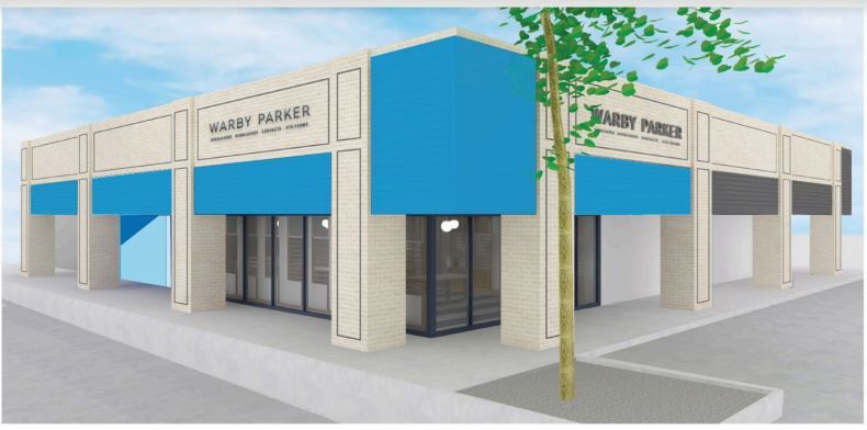 Warby Parker is opening in Addison's Prestonwood Place shopping center in June 2021.