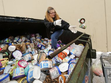 "After seeing a posting on Facebook, LaDonna (no last name given) drove from Johnson County to collect some of the ice cream thrown into dumpsters at a Southwest Arlington Kroger store on Wednesday. LaDonna said she's collecting the frozen goods for her neighbors. ""I do it because they would do it for me,"" she said. The power was back Wednesday and the store was open again."