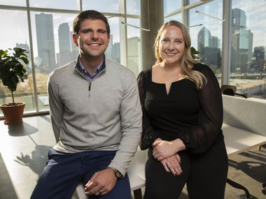 Uber recruiters Gianni Sesto and Katie Gonzalez are staffing up the company's new corporate hub in Deep Ellum.