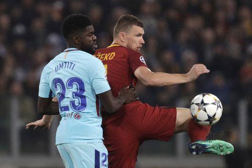 La Roma goleó 3 a 0 al Barcelona y lo dejó fuera de la Champions League. Foto AP