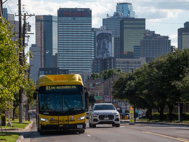 A DART bus moved along Route 81 from downtown Dallas to Mockingbird Station on Monday. Beginning Jan. 24, the transit agency promises a much-improved bus network.