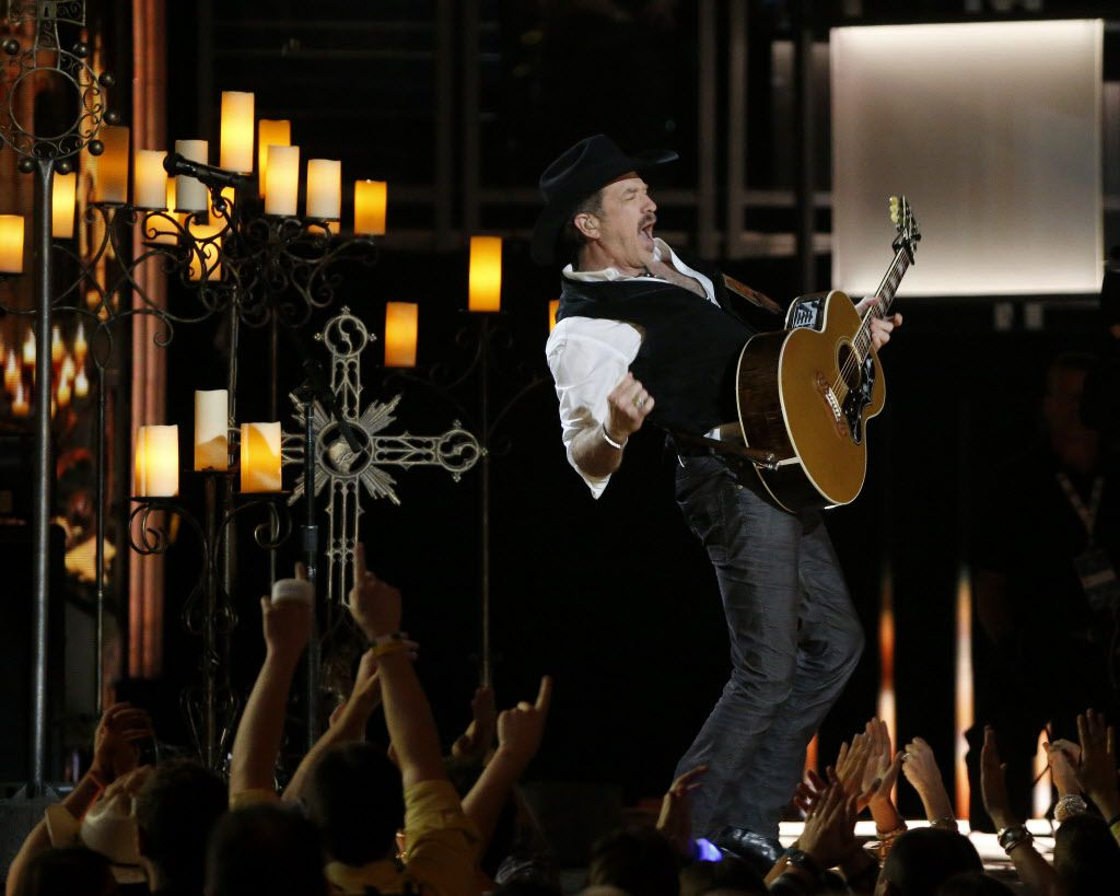 Kix Brooks of Brooks & Dunn performs during the 2015 Academy of Country Music Awards Sunday, April 19, 2015 at AT&T Stadium in Arlington, Texas.