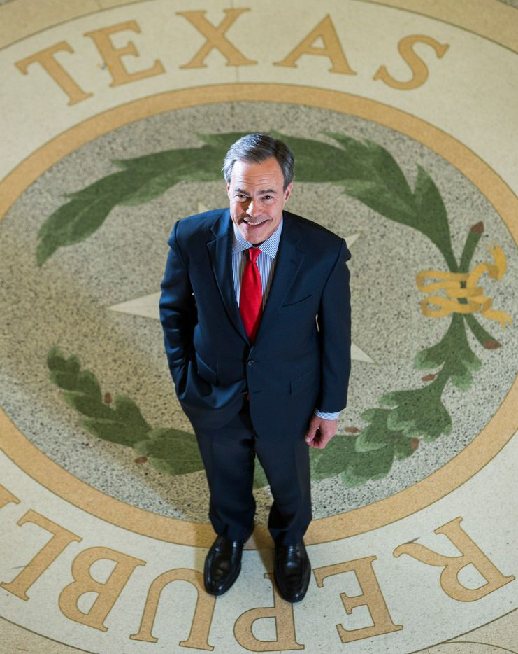 Texas Speaker of the House Joe Straus poses for a portrait in the rotunda of the Texas state capitol on Monday, December 11, 2017 in Austin. (Ashley Landis/The Dallas Morning News)