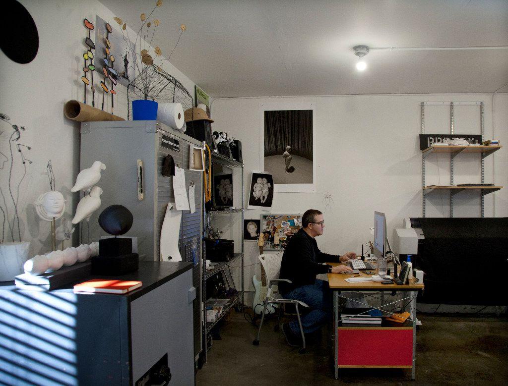 Nic Nicosia in his studio. (Nan Coulter/Special Contributor)