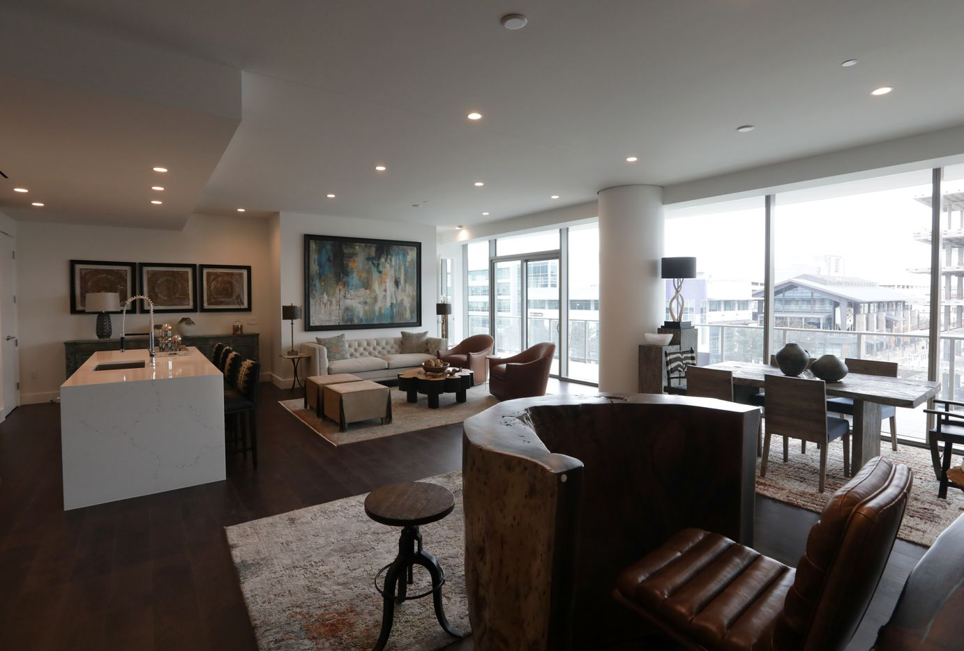 A finished living area in a condo at Windrose Tower in Plano. (Jason Janik/Special Contributor)