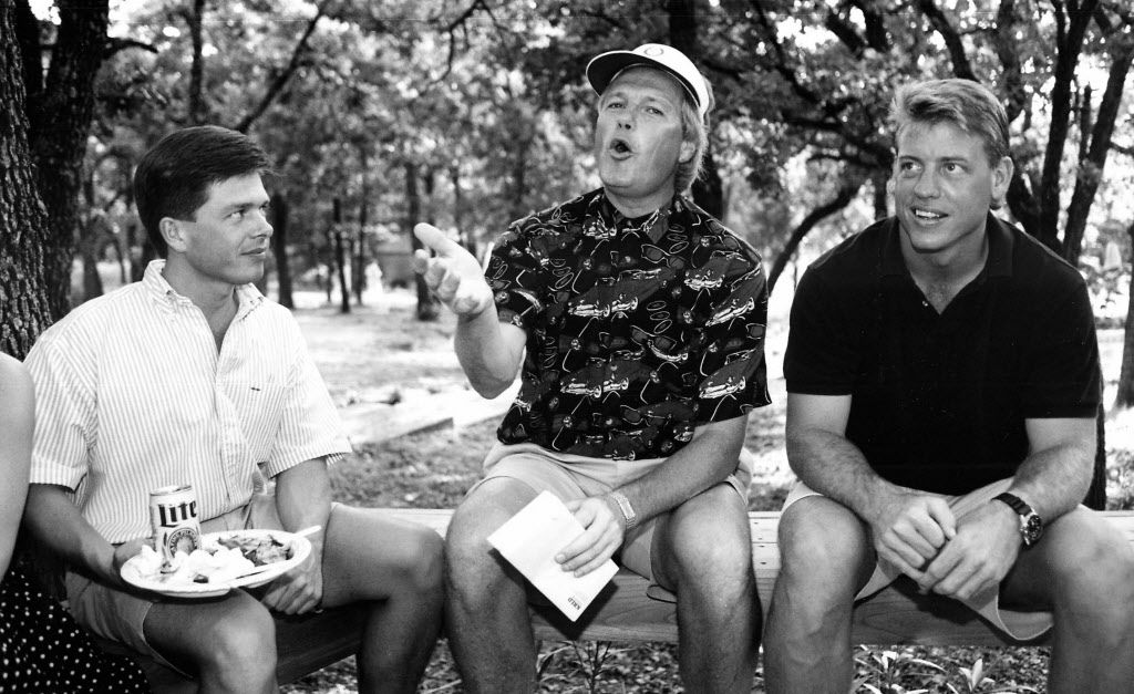 June 26, 1992 -- From left: Mark Malone, Dale Hansen and Troy Aikman are seen in this Fete Set photo.