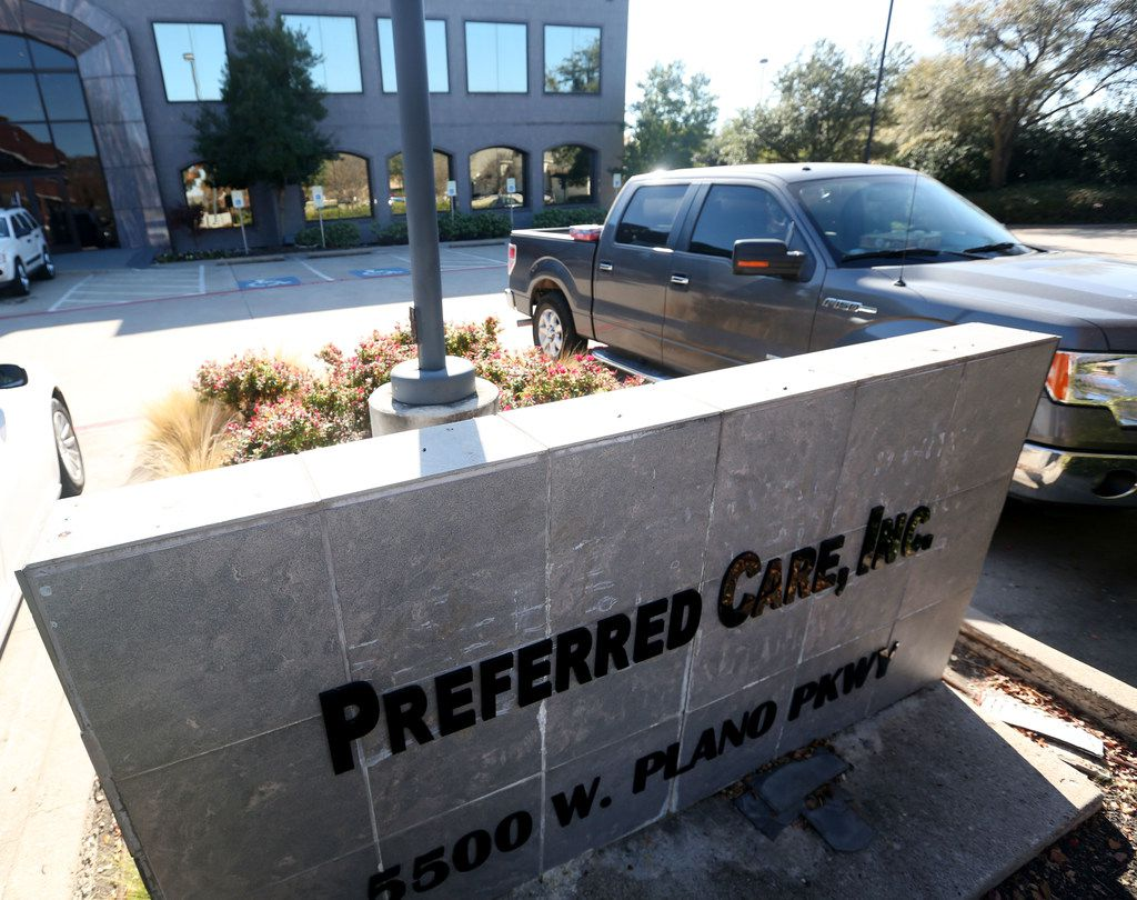 A building where the offices of Preferred Care, Inc. is located at 5500 W. Plano Parkway, in Plano, Texas on Wednesday, Nov. 29, 2017.
