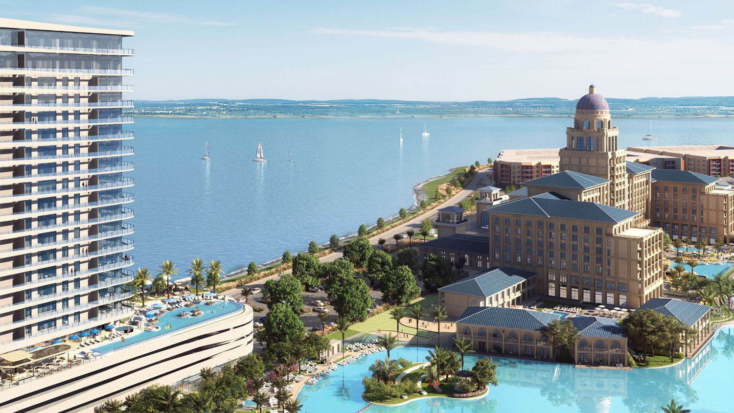 The Sapphire Bay Resort & Conference Center will include more than 500 hotel rooms on Lake Ray Hubbard.