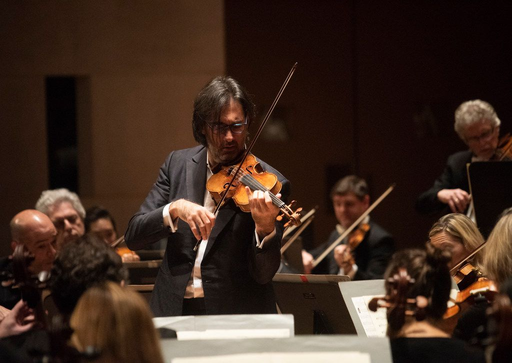 """Violinist Leonidas Kavakos performed Mozart's """"Turkish"""" Violin Concerto in A major with the Dallas Symphony Orchestra at the Morton H. Meyerson Symphony Center on Thursday, Oct. 25, 2018."""