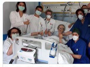 La Gazzetta di Modena informó sobre la primera paciente en recuperarse de covid-19 en un hospital de esa prefectura italiana.