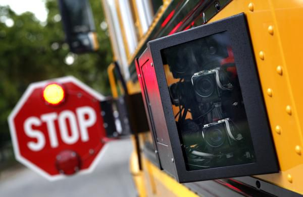 Cameras mounted on the outside of a Dallas County Schools bus can catch drivers who fail to halt.