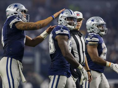 FILE - Cowboys quarterback Dak Prescott (4) celebrates a play with wide receiver Dez Bryant (88) during the fourth quarter of a game on Thursday, Nov. 24, 2016, at AT&T Stadium in Arlington.