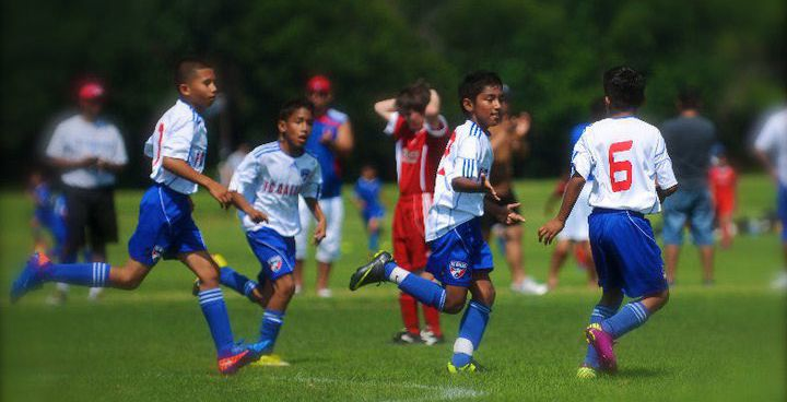 9-year-old Imanol Almageur playing for FC Dallas in 2010.
