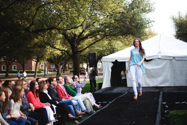 Veronica Phillips was a senior model at last year's fashion show, which is one of the events during SMU Fashion Week.