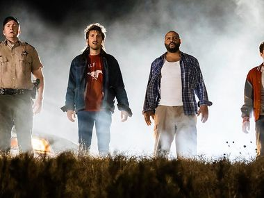Shot in Austin, Rooster Teeth produced a feature film, Lazer Team, that was about four guys who accidentally found a special suit to battle aliens.