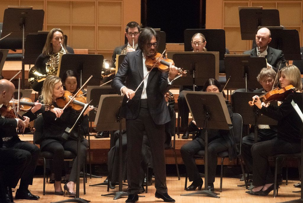 """Violinist Leonidas Kavakos performs Mozart's """"Turkish"""" Violin Concerto in A major with the Dallas Symphony Orchestra at the Morton H. Meyerson Symphony Center on Thursday, Oct. 25, 2018."""