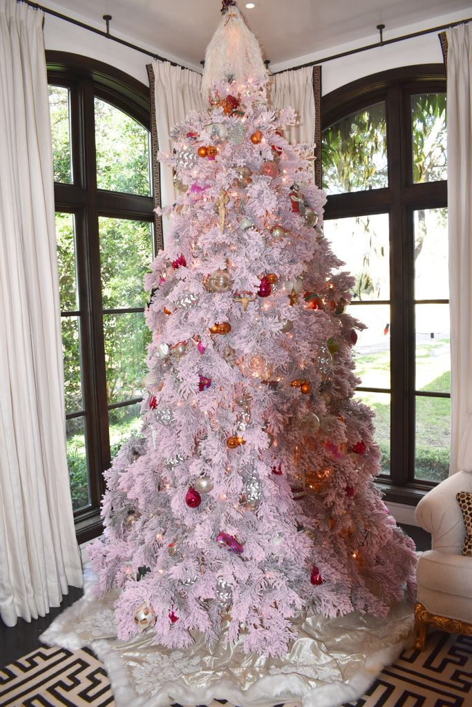 Think pink when you're looking for something with more personality than a conventional Christmas tree.