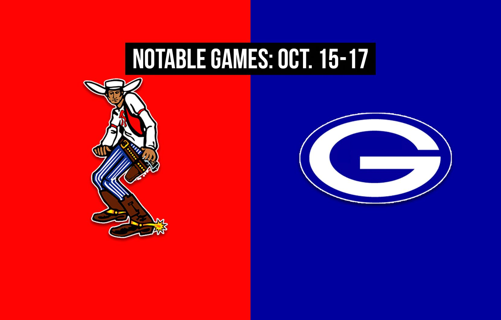 Notable games for the week of Oct. 15-17 of the 2020 season: Arlington Sam Houston vs. Grand Prairie.