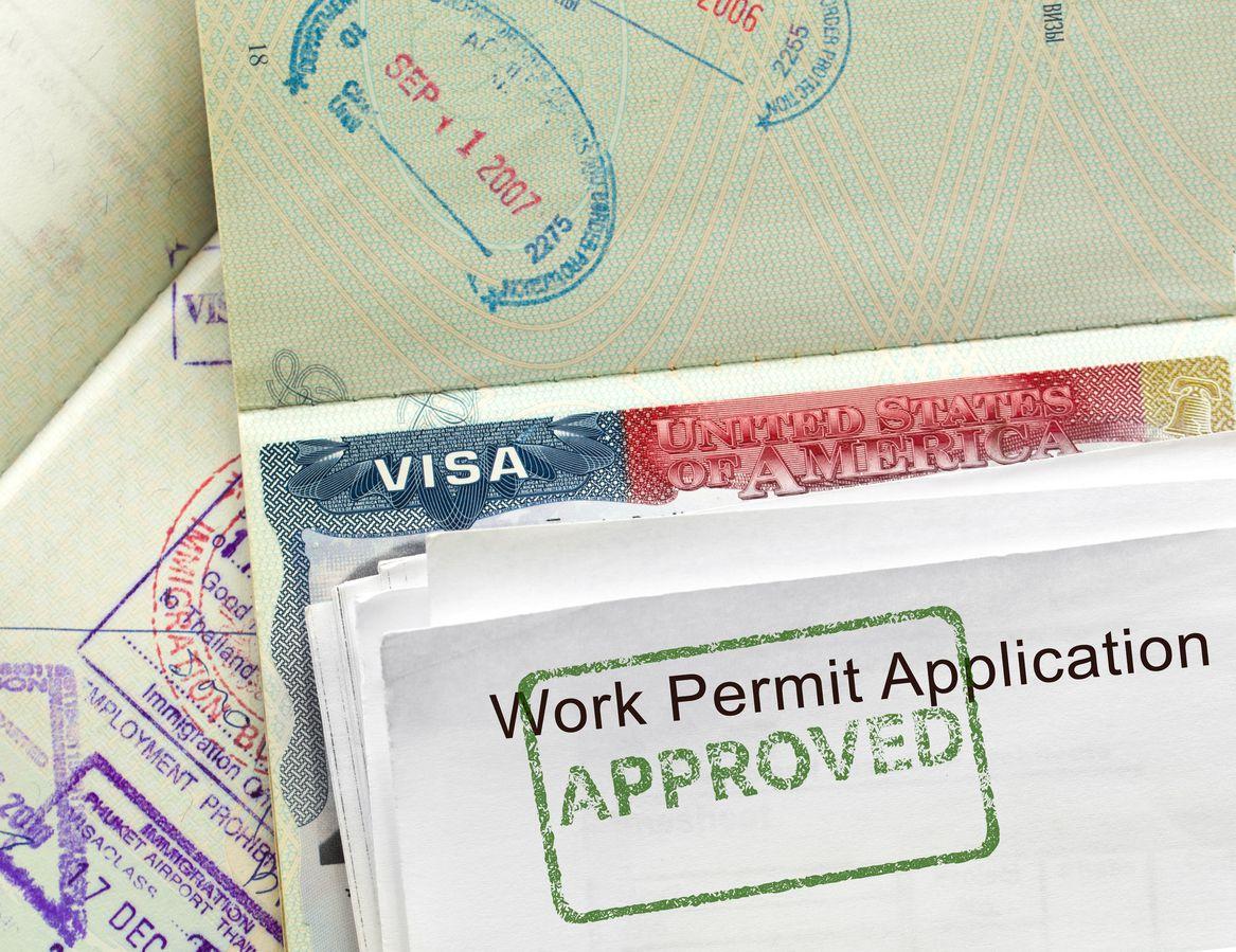 Visa de trabajo temporal para Estados Unidos. iStock
