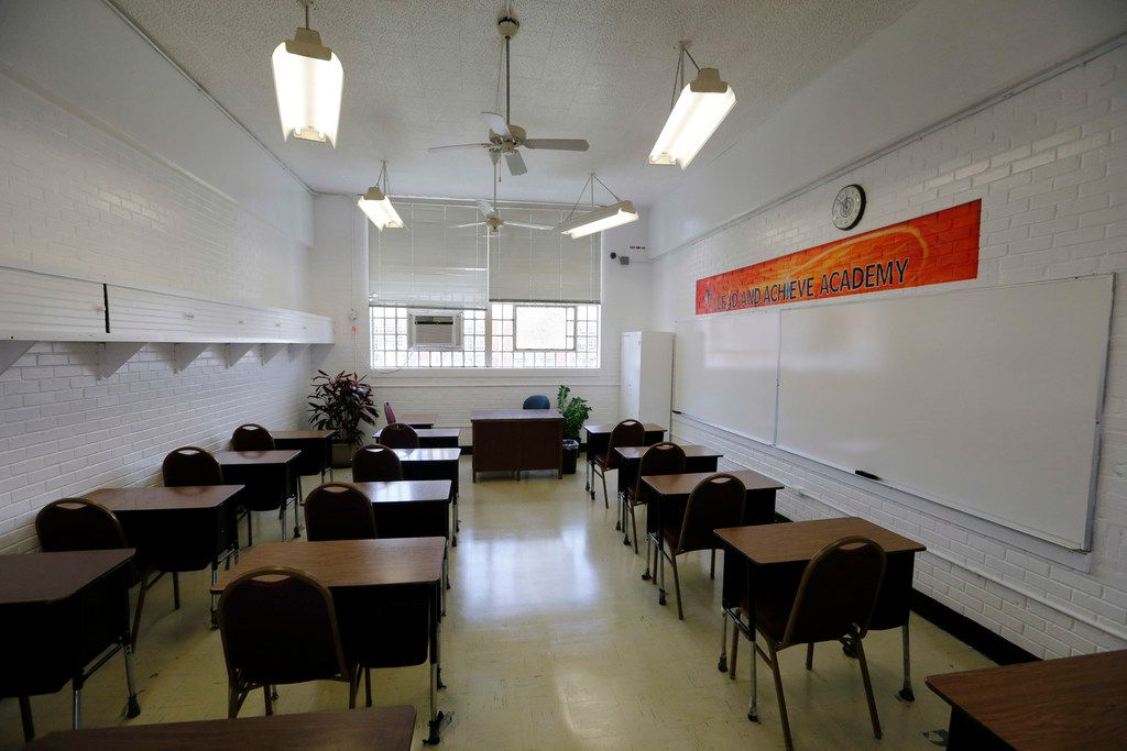 One of the classrooms that will be used in the COURAGE Program at the O.B. Ellis Unit, a state prison in Huntsville, Texas, on Tuesday, May 29, 2018. The educational services will be provided by the Windham Independent School District.