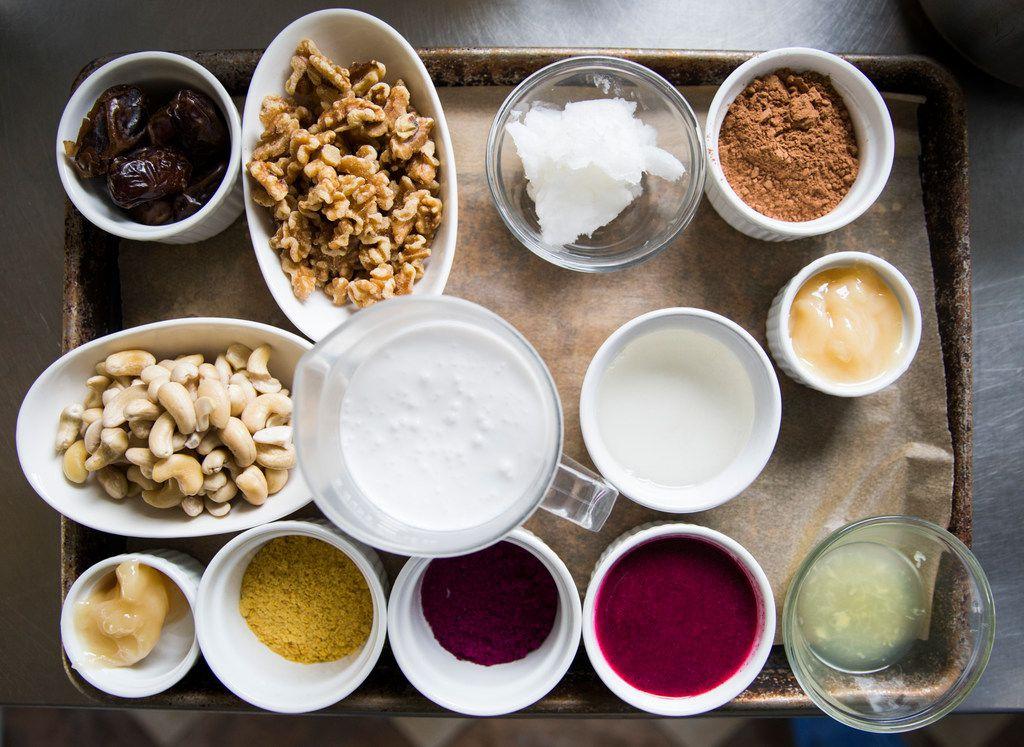 Ingredients for Cat Ruehle's dragon fruit dessert bars.