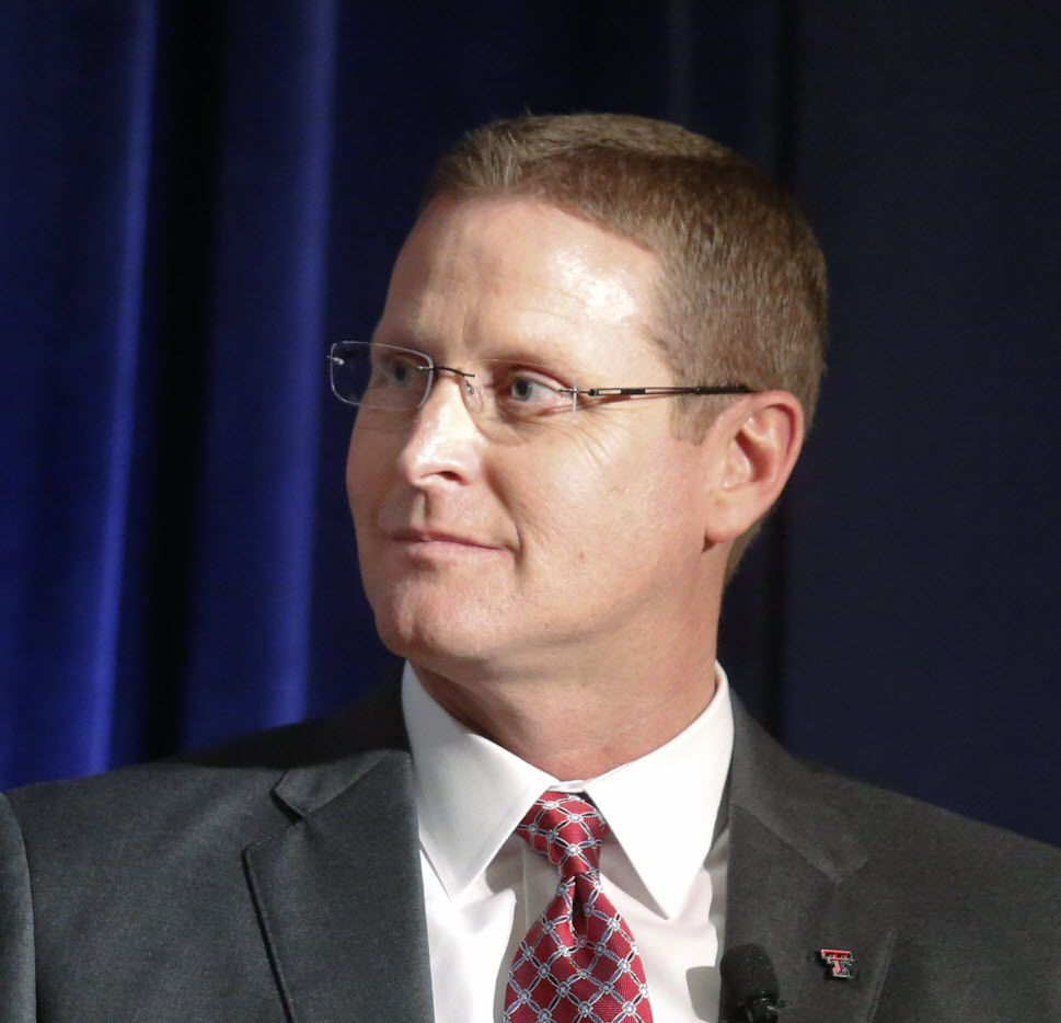 Kirby Hocutt, Athletics Director, Texas Tech University photographed at the Big 12 Conference State of College Athletics Forum at the Omni Hotel in Dallas Tuesday November 17, 2015. (Ron Baselice/The Dallas Morning News)