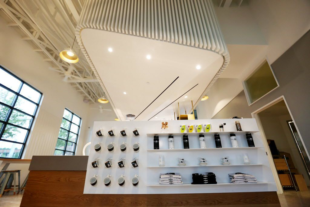 The interior of Houndstooth Coffee along Sylvan Avenue in Dallas June 13, 2016. Houndstooth Coffee has locations in Dallas and Austin. This location is expected to open Wednesday June 15, 2016. (Andy Jacobsohn/The Dallas Morning News)
