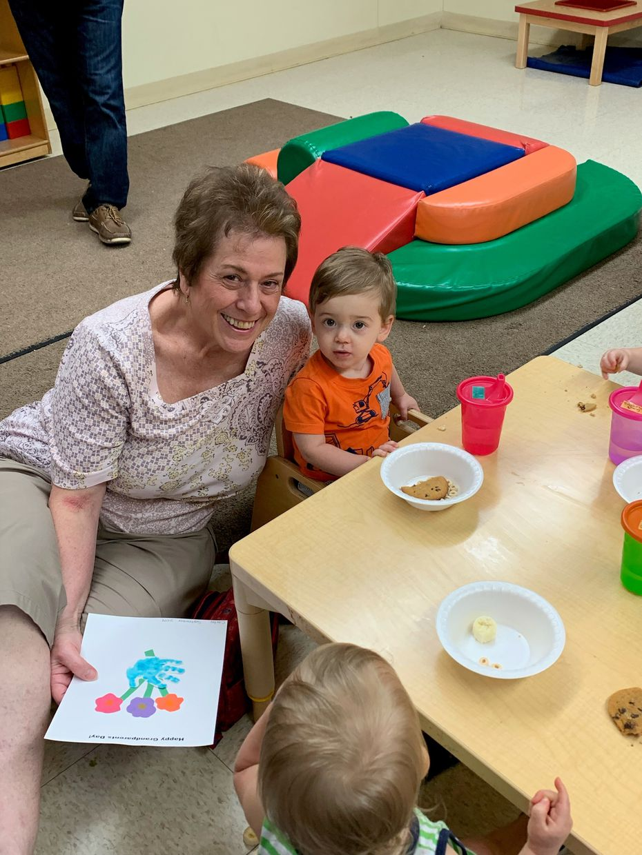 Mary Ann Binghieri and grandson Carter Scherwin