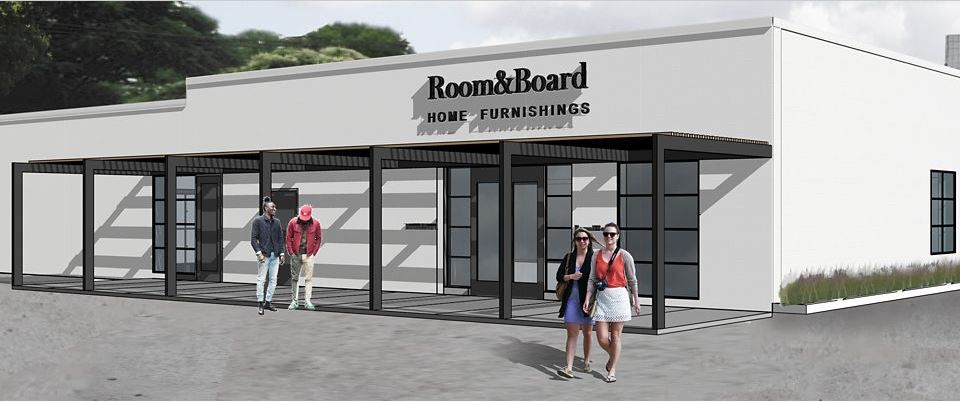 Rendering of the Dallas store.