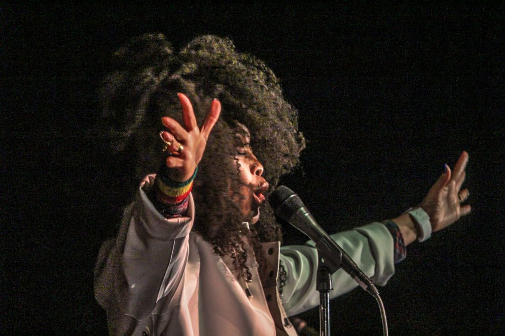 Dallas' own Erykah Badu performed at the 8 year Anniversary of the Jam Session at The Prophet Bar in Deep Ellum on November 26, 2014.