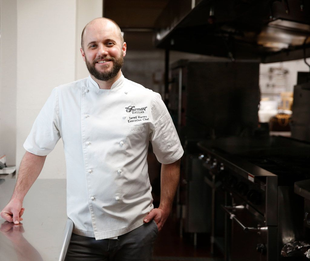 Executive Chef Jared Harms in the kosher kitchen at the Fairmont Dallas hotel.