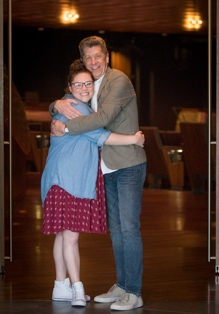 Actress Michelle Dowdy is pictured with Joel Ferrell, associate artistic director of Dallas Theater Center at AT&T Performing Arts Center. Dowdy will star as Tracy Turnblad, a part she played on Broadway, in Hairspray for the Dallas Theater Center in collaboration with AT&T Center at Winspear Opera House July 7-15.
