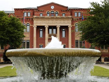 An exterior view of Southlake Town Hall and Tarrant County Sub Courthouse in Southlake Town Square,  June 23, 2020. (Tom Fox/The Dallas Morning News)