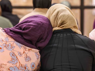 A group of Muslim women attended an afternoon prayer and lecture at the East Plano Islamic Center on Aug. 27, 2021.