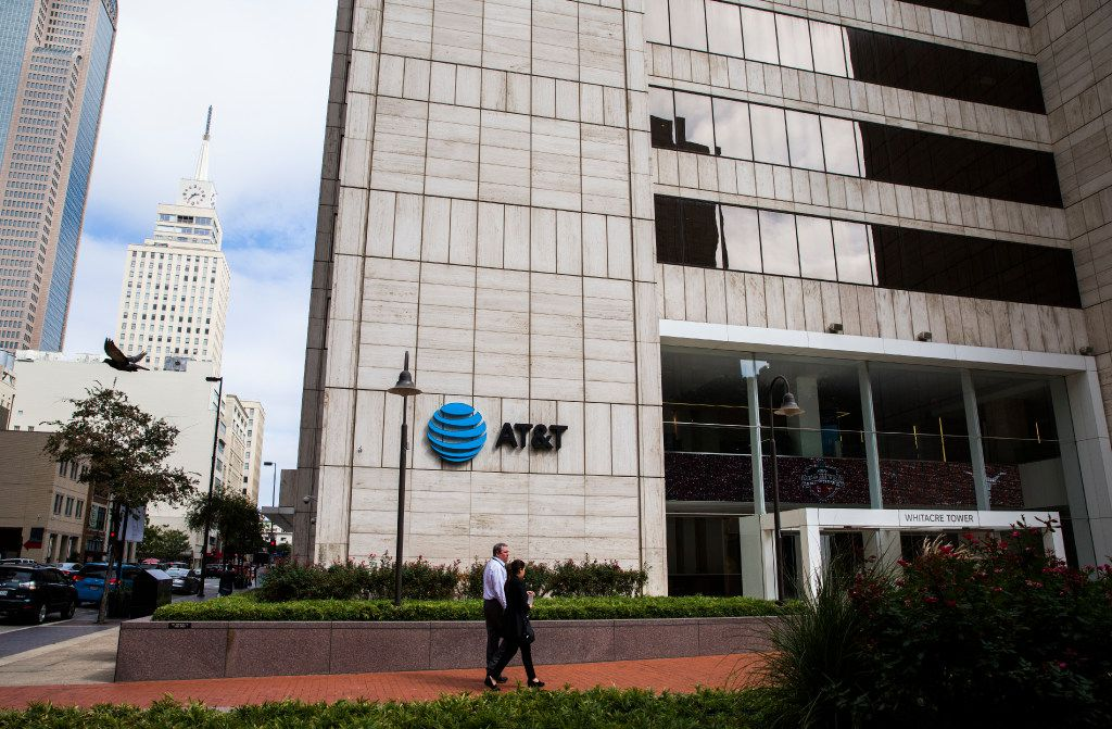 The corporate headquarters of AT&T, including  Whitacre Tower at AT&T Plaza on Friday, October 7, 2016 in downtown Dallas. (Ashley Landis/The Dallas Morning News)