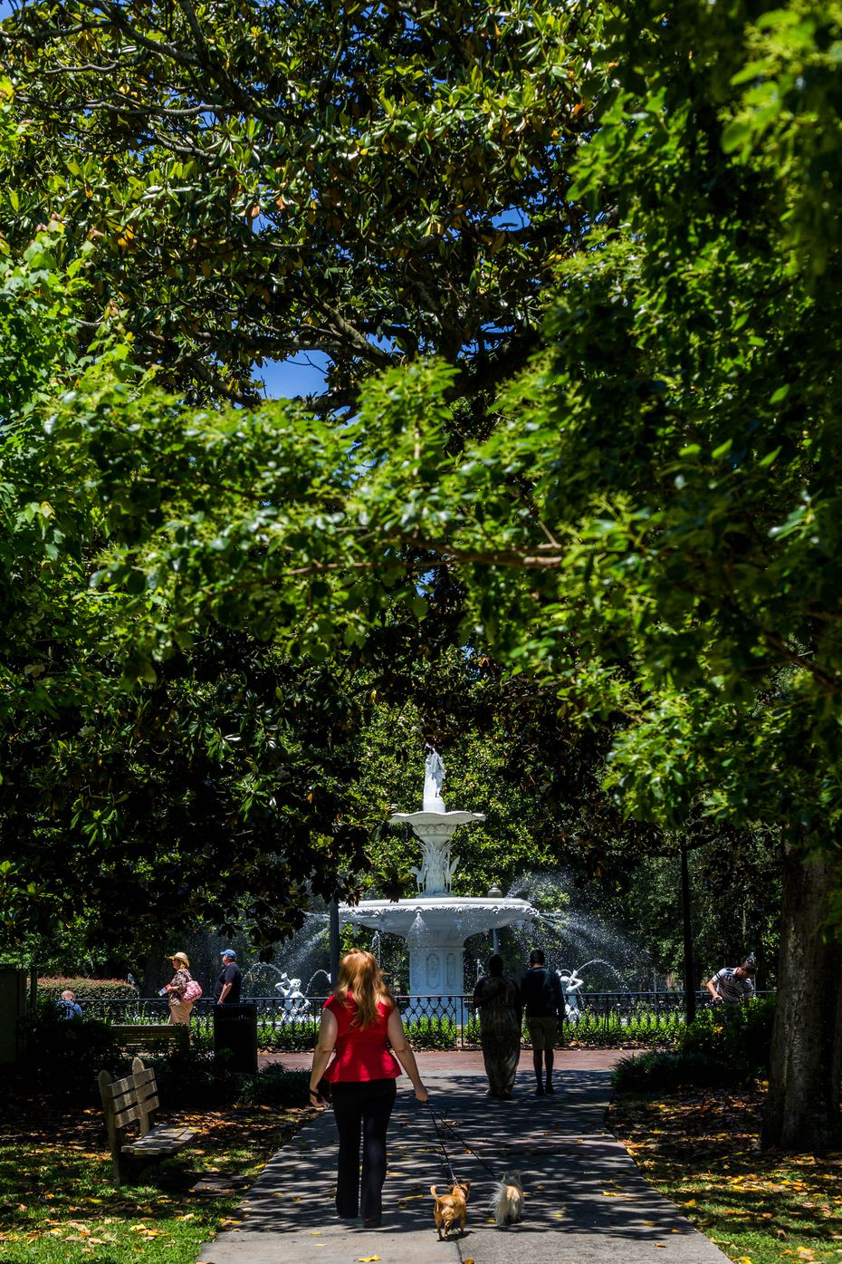Forsyth Park, with its colossal white fountain, is among Savannah's loveliest public spaces.