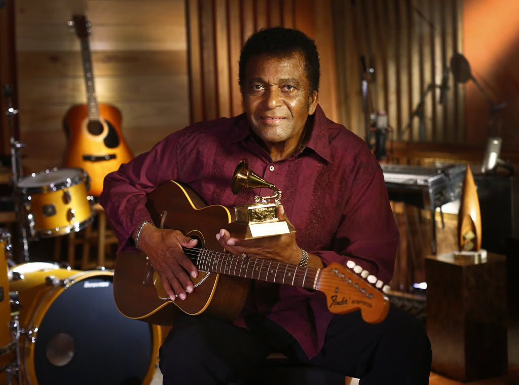Country star Charley Pride at his Dallas studio in 2012.