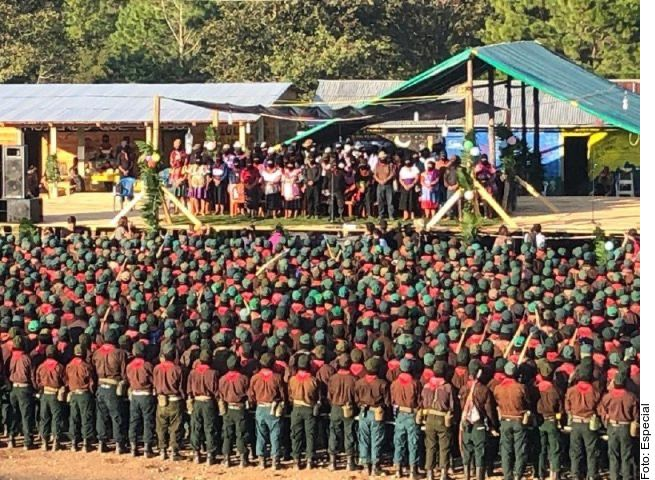 La asamblea del Ejército Zapatista de Liberación Nacional en Chiapas.