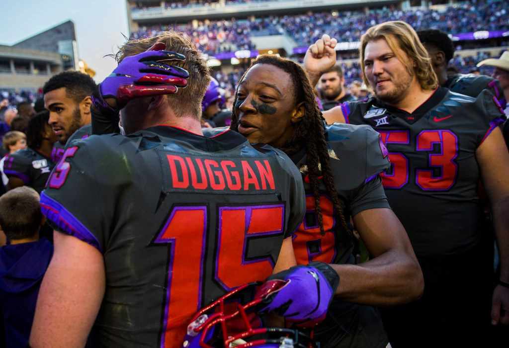 TCU quarterback Max Duggan's breakout performance was the story of the game against Texas -- well, that and TCU's new uniforms.
