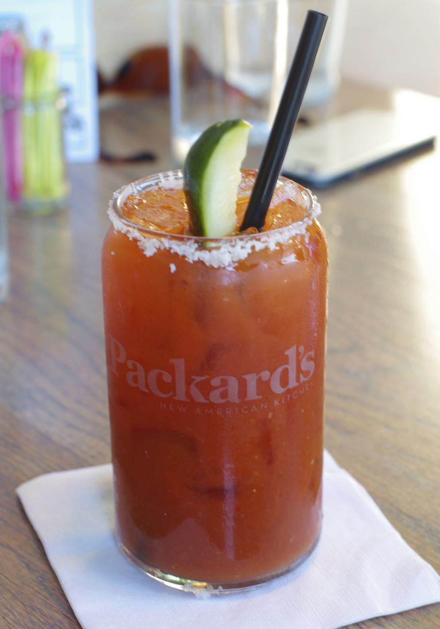 The Bloody Mary at Packard's New American Kitchen is one of the city's best.