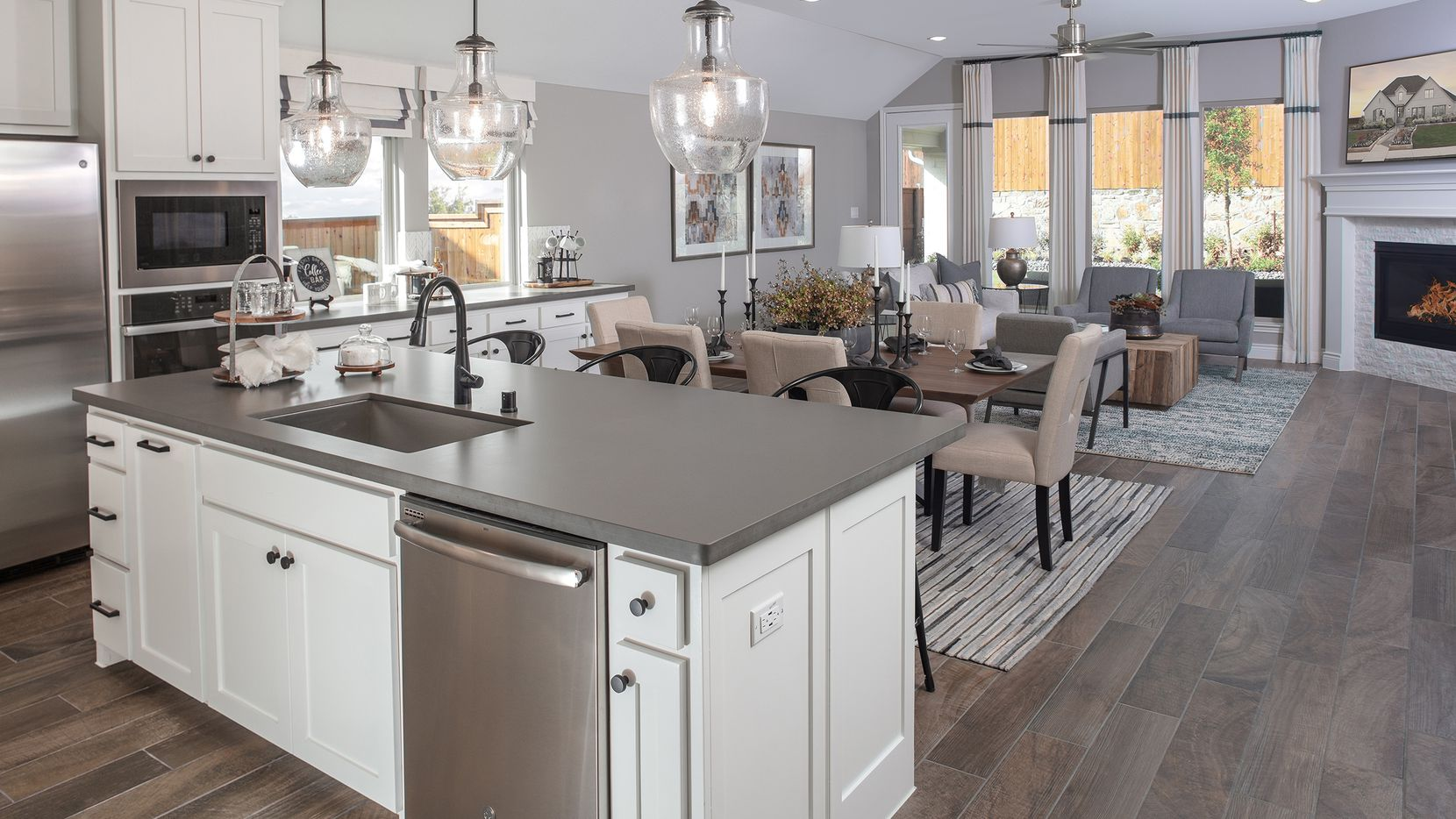 The Perry Homes model at 2316 Sorrelwood Court is located in the Mustang Lakes community in Celina.