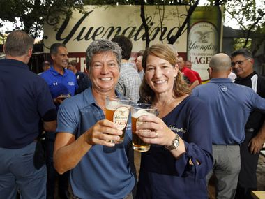 Yuengling sisters Jennifer Yuengling (left) and Wendy Yuengling are sixth generation family members of the D. G Yuengling & Son brewery in Pennsylvania. The company is nearly 200 years old, but most of the expansion into other states took place during Jen and Wendy Yuengling's lifetime. As of Aug. 23, 2021, Yuengling is in 23 states, Texas included.
