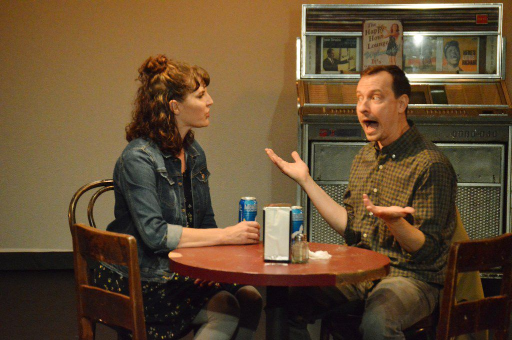 Married actors Kim and Matt Lyle play a couple out on a crazy first date in their Bootstraps Comedy Theater production of Nerve.