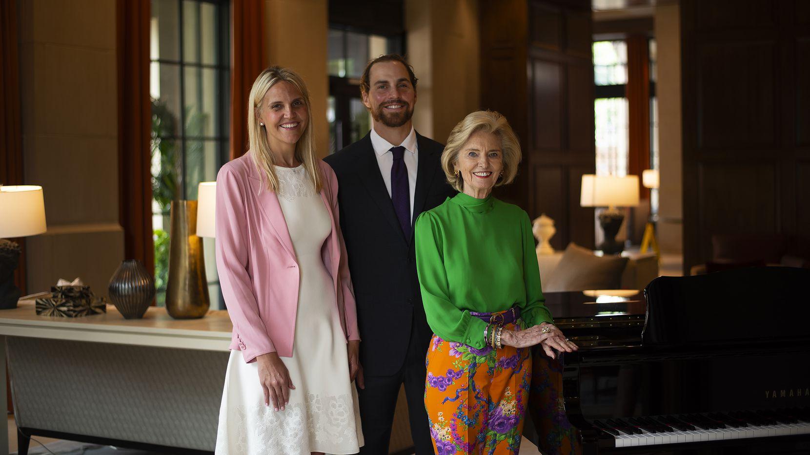 Erin Young Garrett (left), Keith Conlon and Allie Beth Allman lead the top luxury real estate brokerage Allie Beth Allman & Associates.