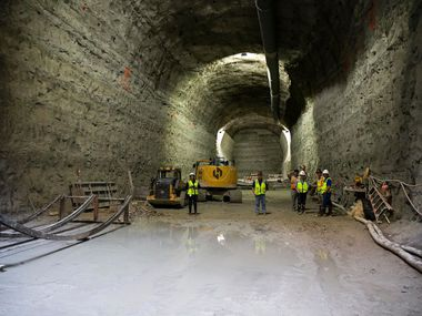 The Mill Creek Drainage Relief Tunnel in Dallas on Thursday, June 13, 2019. Once completed, the 5-mile tunnel will sit 70 to 100 feet below ground to provide flood relief.