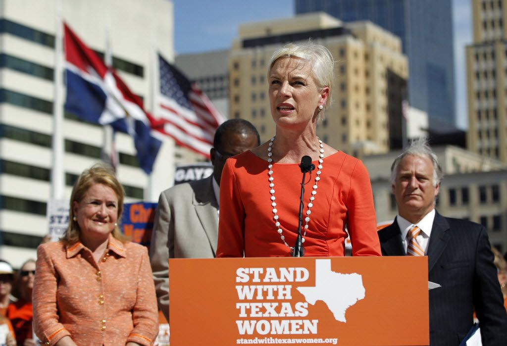 Cecile Richards, president of Planned Parenthood Action Fund speaks at a Planned Parenthood news conference on abortion legislation at Dallas City Hall on July 10, 2013. (Vernon Bryant/The Dallas Morning News) / mug - mugshot - headshot - portrait /